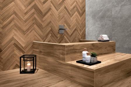 aménagement salles de bains bois exotique Vertou 44