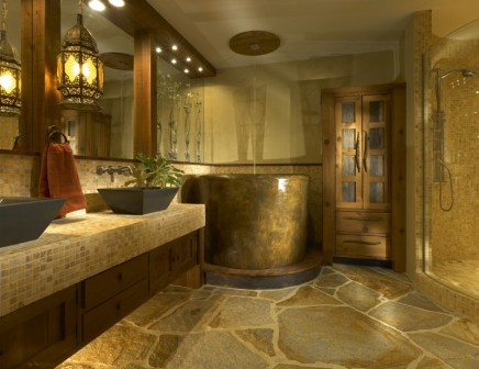 agencement salles de bains bois massif Piriac-sur-Mer 44