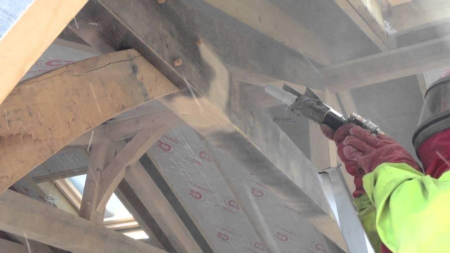 aérogommage poutre charpente bois Loire-Atlantique 44
