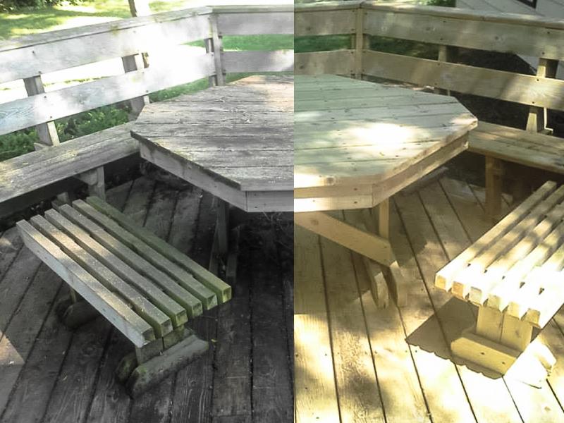 grenaillage terrasse bois Mesquer 44