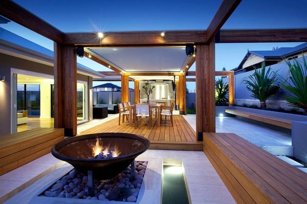 terrasse bois intérieure